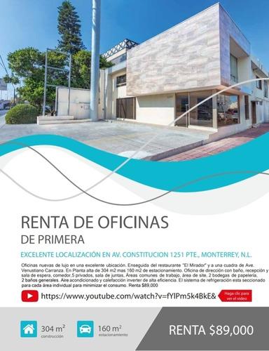Imagen 1 de 13 de Oficina En Renta De Centro Monterrey