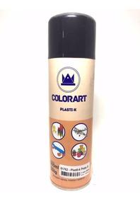 Tinta Preto Fosco Plasti K Spray Para Plástico Colorart