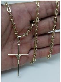 Corrente Cordão Banhado Ouro 18k+pulseira,e Pingente,5.mm