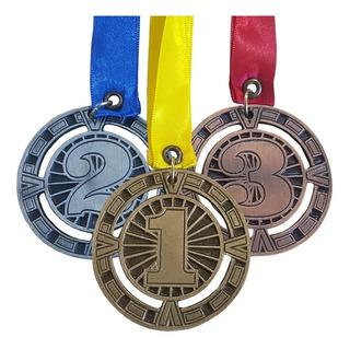 36 Medallas Metálicas Diseño 1er 2do 3er Lugar