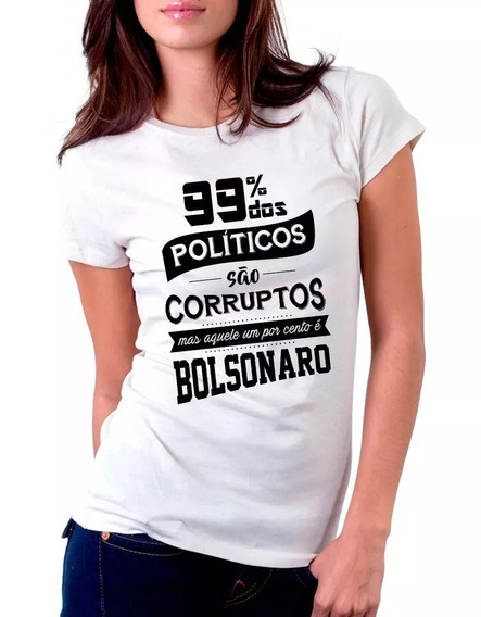 Camisa Camiseta Baby Look Político Corrupito Eleição 2018