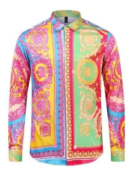 Camisa Versace Estampa Barroca