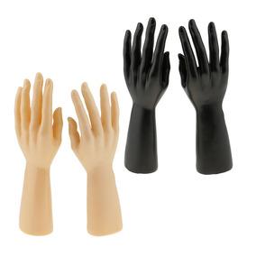 2 Pares De Mão Manequim Masculino Para Jóias Pulseira Anel R