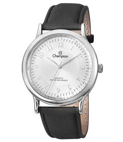 Relógio Analógico Original Cromado Mondaine Pulseira Camurça