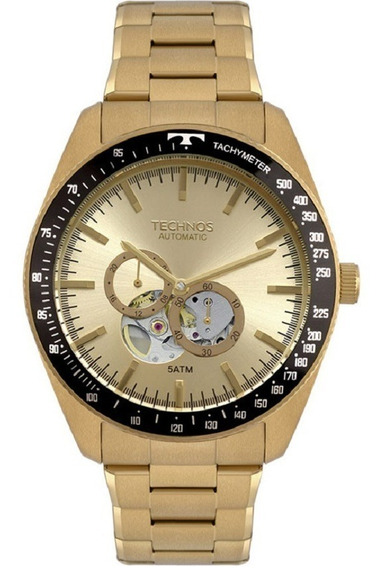 Relógio Technos Masculino Automático 82s7ab/4x Dourado