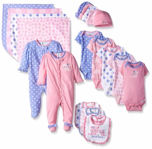 3331d37a Gerber Ropa De Bebé Para Niña, 19 Piezas Recién Nacido 0-3 M - $ 2,290.00 en  Mercado Libre