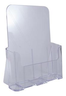 Porta Folletos/catalogo A4 Acrilico Exhibidor
