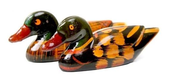 Patos Mandarínes 8cm Feng Shui Amor Pareja Deco 201.033001