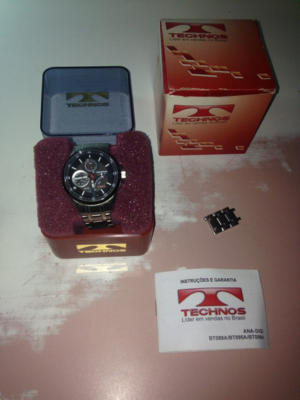 Relógio Technos Jr00.ac Completo Caixa Manual R$499,99
