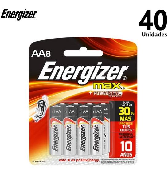 Pilha Alcalina Energizer Max Pequena Aa Com 40 Unidades