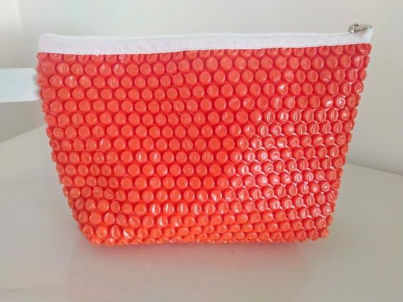 Bolsa Clutch Plástico Bolha Laranja