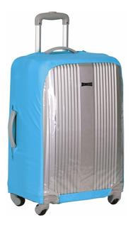 Capa Para Mala De Viagem Grande Azul/transparente Sestini