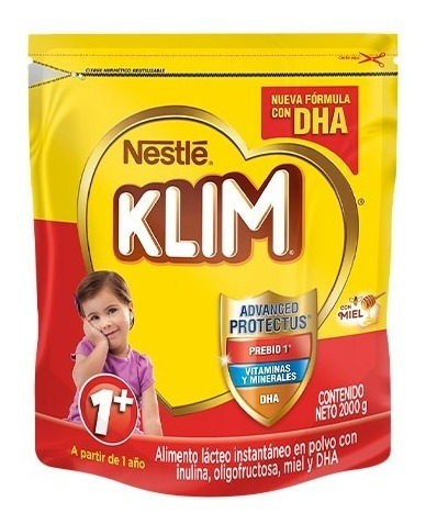 Alimento Lacteo Klim 1+ Fortiprotect X2000 Gr
