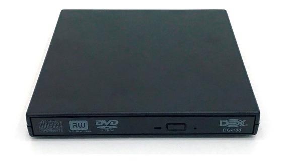 Gravador Externo Slim Usb Portátil Leitor Cd/dvd Dg100