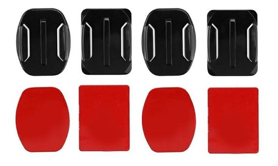Gopro Suporte Curvo Plano Adesivo Capacete Action Sport Cam
