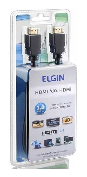Cabo Hdmi 1.8 Metros Preto Elgin Full Hd 1080p Nfe