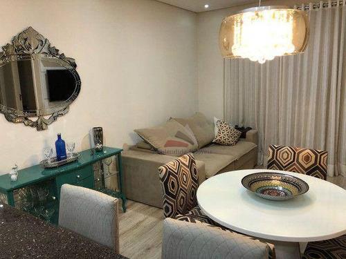 Imagem 1 de 19 de Apartamento Com 2 Dormitórios À Venda, 63 M² Por R$ 385.000,00 - Cézar De Souza - Mogi Das Cruzes/sp - Ap0339