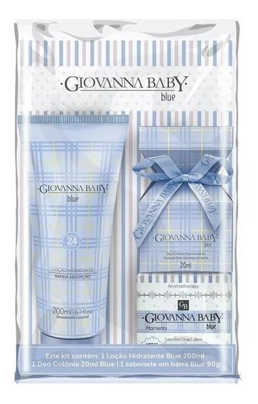 Loção + Deo Colônia + Sabonete Giovanna Baby Blue