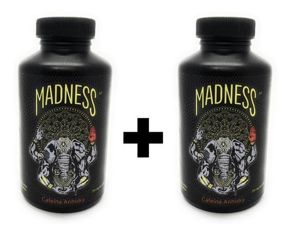Madness Lab Cafeína Anhidra 100 Cápsulas (2 Unidades)