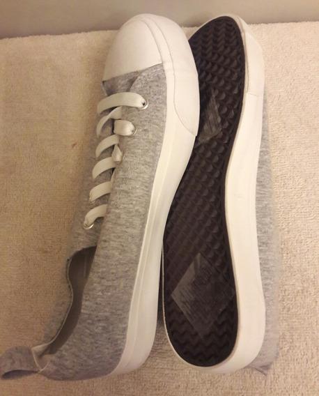 Tennis Zapatos Deportivos Tipo Converse Gris Talla 40