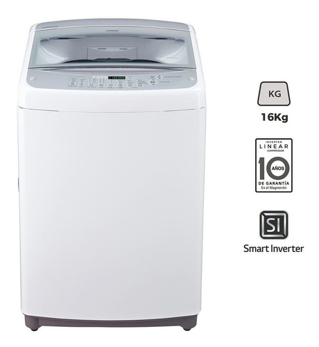 Lavarropas De Carga Superior 16k LG Wt16wsb Inverter Fama