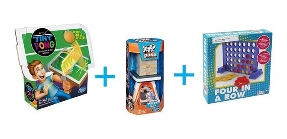 Kit Juegos De Mesa Tiny Pong, Spin Master Y Desafió Jenga