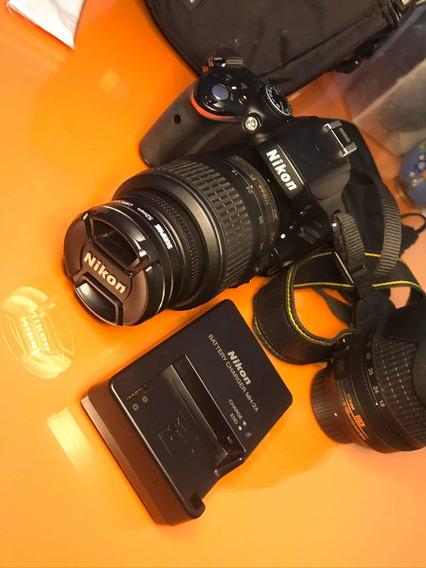 Câmera Nikon Dslr D5100 Com 2 Lentes Manuais E Bolsa