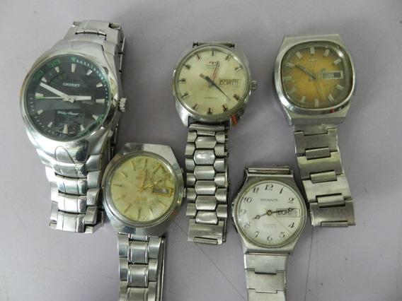 Relógios De Pulso Anos 70 Lote Com 5