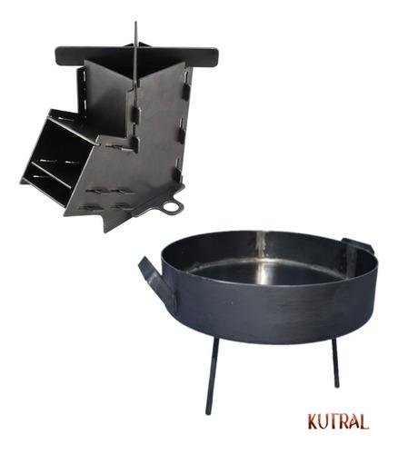 Combo Cocina Rocket Kutral Desarmable + Disco De 38cm