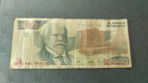 Billete De 2000 Pesos Mexicanos Del Año 1989