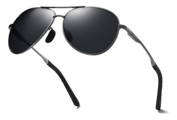 Lentes De Sol Original Para Hombres Aluminio Gafas Polarizadas Conducir De Alta Calidad Uv400 Deportes De Playa