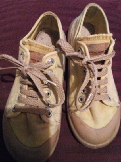 Zapatillas Vintage Solido Originales Amarillas Cordón 37 Mb