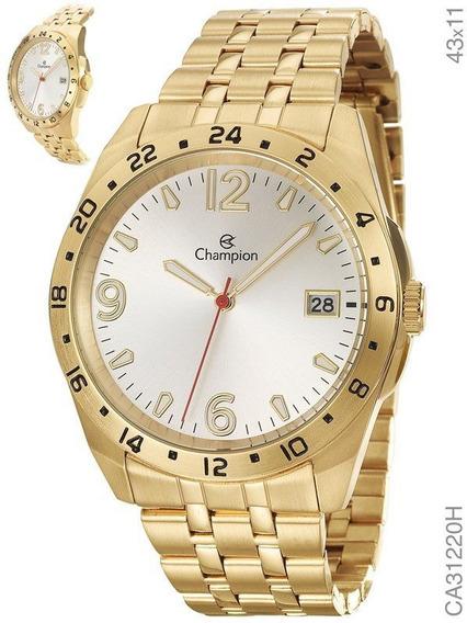 Relógio Champion Masculino Dourado Aço Ca31220h