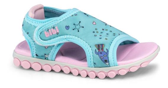 Sandália Infantil Bibi Feminina Azul Summer Roller 1103024