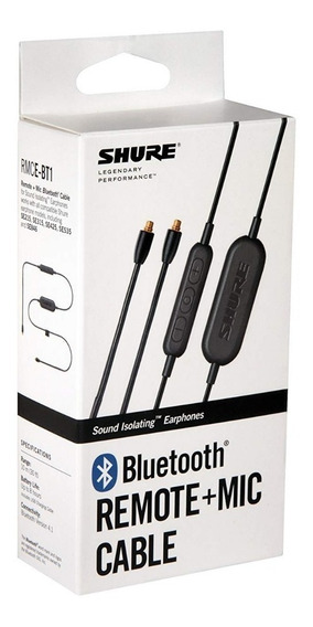 Cabo Bluetooth Shure Se215, Se315, Se425, Se535 E Se846
