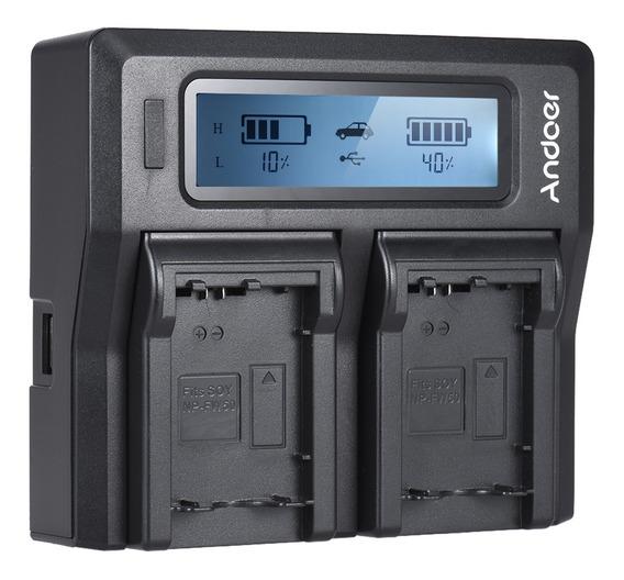 Bateria Da Câmera Digital De Canal Duplo Andoer Np-fw50 Npfw