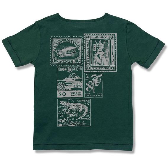 Camiseta Aventura Verde Green - Infantil Menino