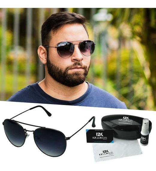 Oculos Sol Solar Redondo Metal Retro Homem Aviator Masculino