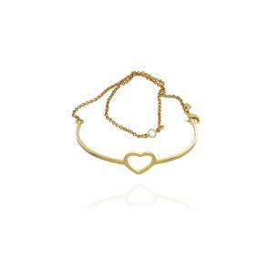 Pulseira 2x1 Bracelete Coração Semijoia