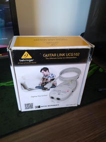 Interface De Áudio Usb Behringer Ucg102 Guitar Link