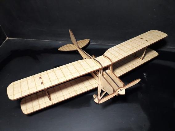 Avião Modelo Tiger Moth Mdf