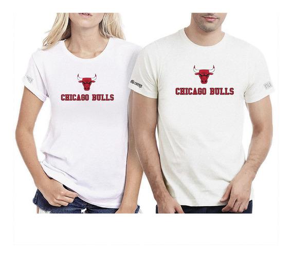 Camisetas De Parejas Hombre Mujer Chicago Bulls Ipk