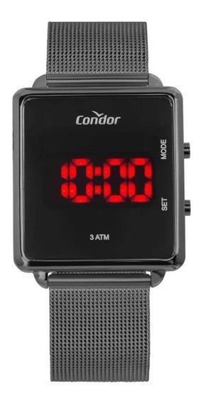 Relógio Condor Feminino Digital Led Preto Cojhs31bac