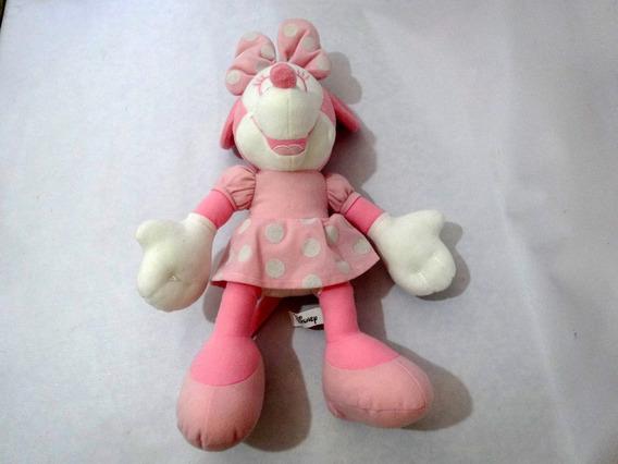 Boneca Pelucia Minnie Cor Rosa 36 Cm Marca Sega
