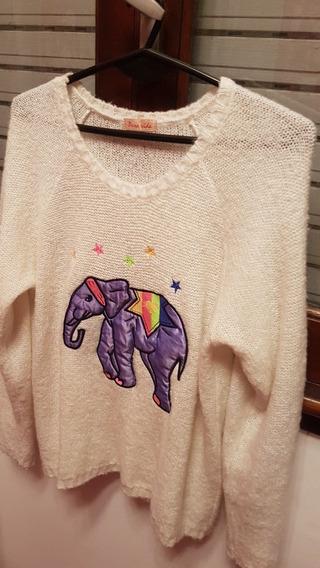 Sweter Bordado Elefante T M/l