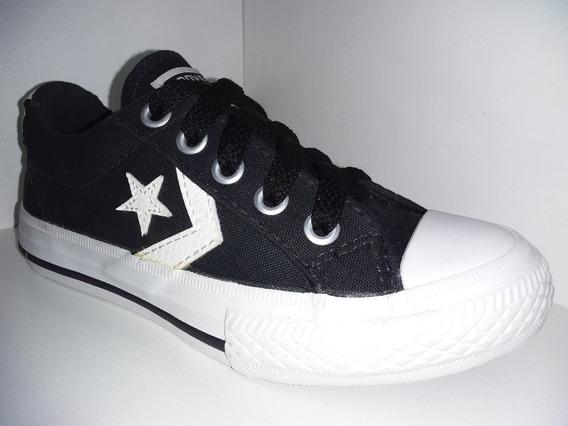 Tenis All Star Converse Preto Branco Estrela Ref: Ko134143