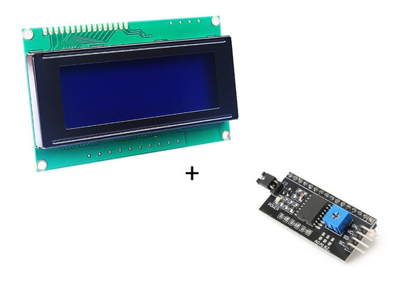 Display Lcd 20x4 Com Backlight Azul + Módulo I2c