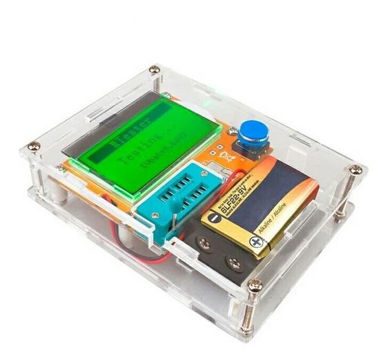 Testador De Componente Eletrônico + Case Diodo Capacitor Res