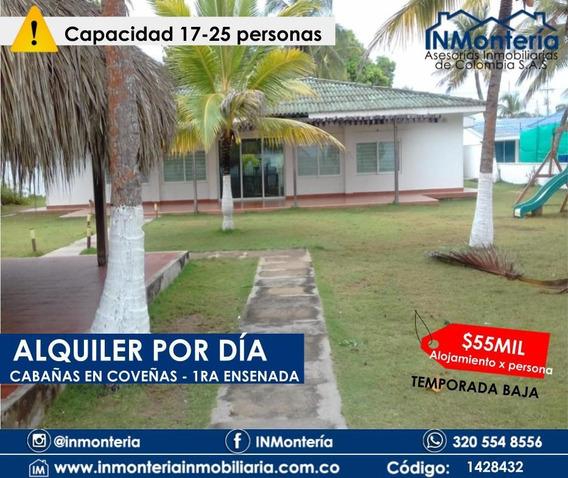Alquiler Por Día Cabaña En 1ra Ensenada Coveñas