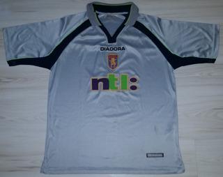 Camisa Do Aston Villa Diadora Ntl Tamanho G 2001/2002